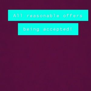ALL REASONABLE OFFERS BEING IMMEDIATELY ACCEPTED